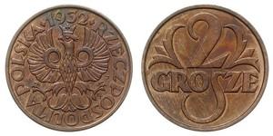 2 Грош Польша / Польская Республика (1918 - 1939) Медь