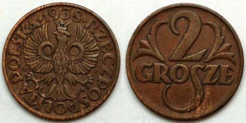2 Грош Польща / Польська республіка (1918 - 1939) Мідь