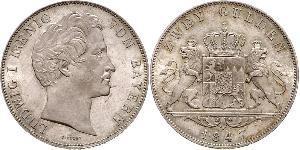 2 Гульден Королевство Бавария (1806 - 1918) Серебро Людвиг I (король Баварии)(1786 – 1868)