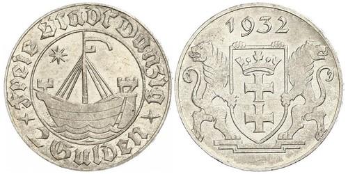 2 Гульден Gdansk (1920-1939) Серебро
