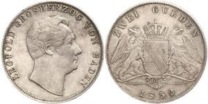 2 Гульден Велике герцогство Баден (1806-1918) Срібло Leopold, Grand Duke of Baden (1790 – 1852)