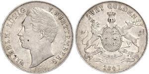 2 Гульден Королівство Вюртемберг Срібло William I of Württemberg