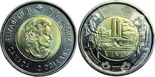 2 Долар Канада Латунь Єлизавета II (1926-)