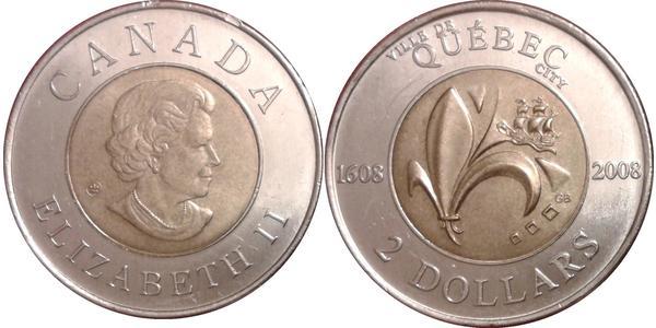 2 Долар Канада Нікель Єлизавета II (1926-)