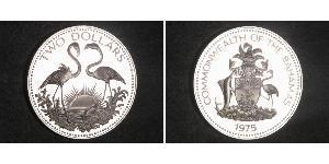 2 Долар Багамські о-ви Срібло