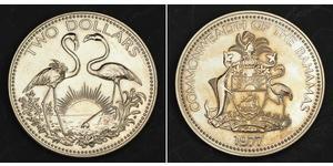 2 Доллар Багамские о-ва Никель/Медь