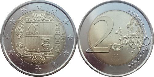 2 Евро Андорра Никель