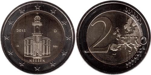 2 Евро Федеративная Республика Германия (1990 - ) Никель