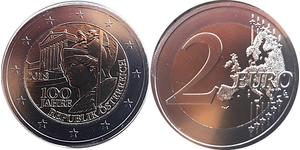 2 Евро Австрийская Республика(1955 - ) Никель/Медь