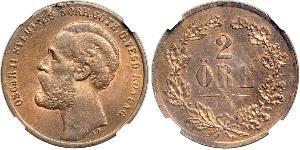 2 Ере United Kingdoms of Sweden and Norway (1814-1905)  Оскар II (1829-1907)