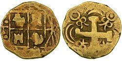 2 Ескудо Нова Ґранада (1717 - 1819) Золото Фердинанд VI  король Іспаніі (1713-1759)