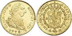 2 Ескудо Перу Золото Карл III король Іспанії (1716 -1788)