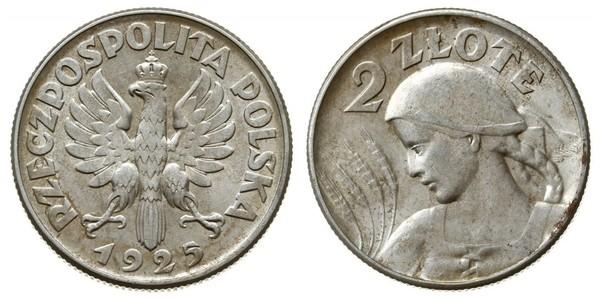 2 Злотый Польская Республика (1918 - 1939) Серебро
