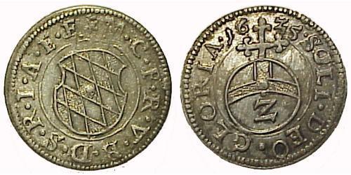 2 Крейцер Германия Серебро Максимилиан I (курфюрст Баварии)(1573 – 1651)
