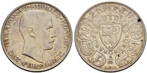 2 Крона Королевство Норвегия (1905 - ) Серебро Хокон VII (1872 - 1957)