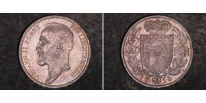 2 Крона Лихтенштейн Серебро Johann II, Prince of Liechtenstein (1840-1929)