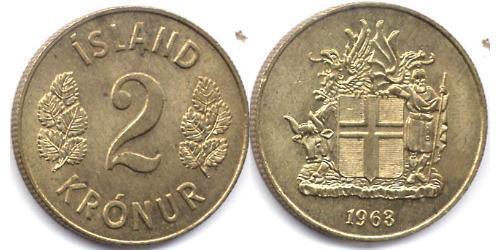 2 Крона Исландия
