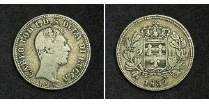 2 Лира Kingdom of Italy (1861-1946) Серебро Карл II (герцог Пармский)
