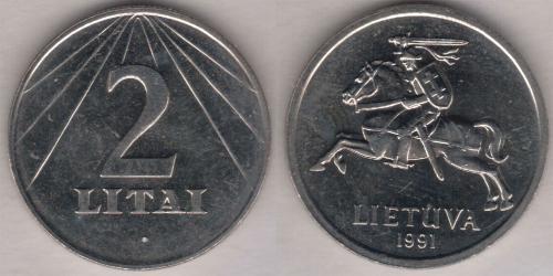 2 Лит Литва (1991 - ) Никель/Медь