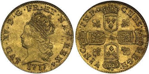 2 Луидор Королевство Франция (843-1791) Золото Людовик XV (1710-1774)