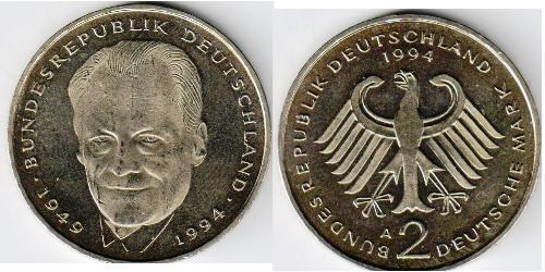 2 Марка Германия Никель/Медь