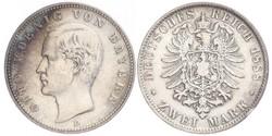 2 Марка Королевство Бавария (1806 - 1918) Серебро Отто I (король Баварии)(1848 – 1916)