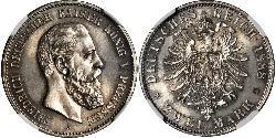 2 Марка Пруссия (королевство) (1701-1918) Серебро Фридрих III (германский император) (1831-1888)