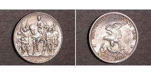 2 Марка Пруссия (королевство) (1701-1918) Серебро