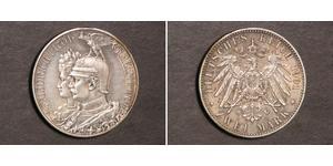 2 Марка Пруссия (королевство) (1701-1918) Серебро Wilhelm II, German Emperor (1859-1941)