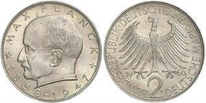 2 Марка ФРГ (1949-1990) Серебро