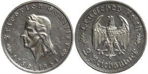 2 Марка Третій рейх (1933-1945) Срібло