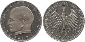 2 Марка ФРН (1949-1990) Срібло