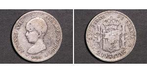 2 Песета Королевство Испания (1874 - 1931) Серебро Alfonso XIII of Spain (1886 - 1941)