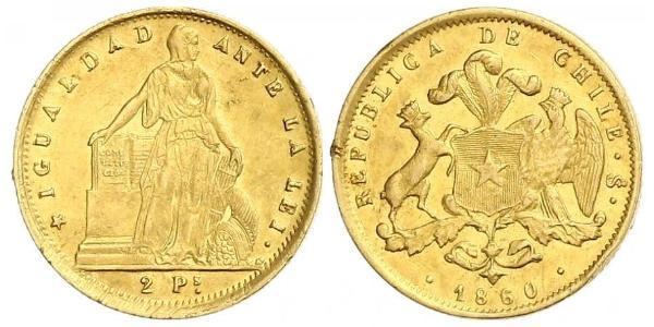 2 Песо Чили Золото