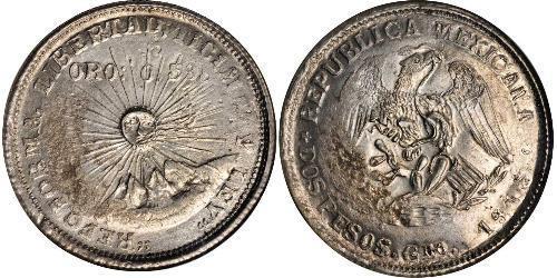 2 Песо Мексиканські Сполучені Штати (1867 - ) Срібло