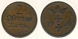 2 Пфенниг Gdansk (1920-1939) Бронза