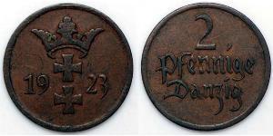 2 Пфеніг Gdansk (1920-1939) Бронза