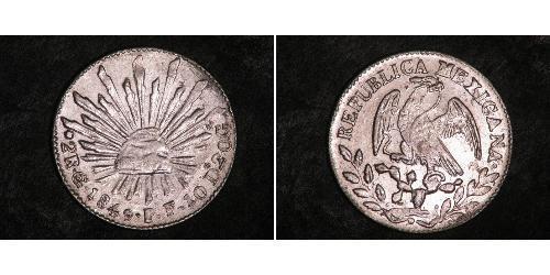 2 Реал Second Federal Republic of Mexico (1846 - 1863) Серебро