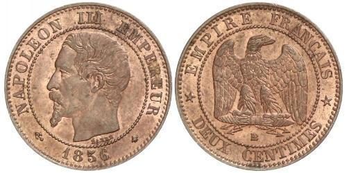 2 Сантим Вторая французская империя (1852-1870) Медь Наполеон III Бонапарт (1808-1873)