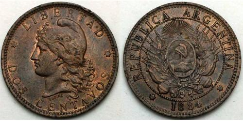 2 Сентаво Аргентинская Республика (1861 - ) Медь