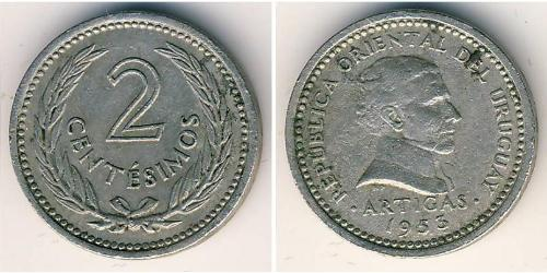 2 Сентесимо Уругвай Никель/Медь