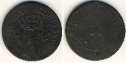 2 Су Французська Гвіана Мідь Людовик XVI (1754 - 1793)