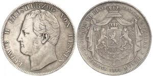2 Талер Великое герцогство Гессен (1806 - 1918) Серебро Людвиг II (великий герцог Гессенский)