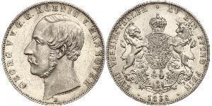 2 Талер Ганновер (королевство) (1814 - 1866) Серебро Георг V (король Ганновера) (1819 - 1878)