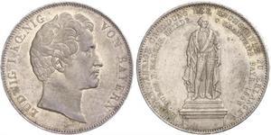 2 Талер Королевство Бавария (1806 - 1918) Серебро Людвиг I (король Баварии)(1786 – 1868)