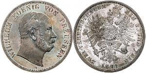 2 Талер Пруссия (королевство) (1701-1918) Серебро Wilhelm I, German Emperor (1797-1888)