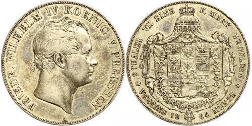 2 Талер Пруссия (королевство) (1701-1918) Серебро Фридрих Вильгельм IV (1795 - 1861)