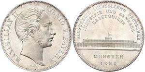 2 Талер Королівство Баварія (1806 - 1918) Срібло Максиміліан II (король Баварії)(1811 - 1864)