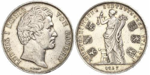 2 Талер Королівство Баварія (1806 - 1918) Срібло Людвиг I (король Баварії)(1786 – 1868)