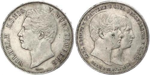 2 Талер Королівство Вюртемберг Срібло William I of Württemberg